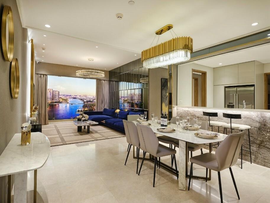 Phối cảnh thiết kế nội thất lấy cảm hứng từ các thương hiệu thời trang danh tiếng.