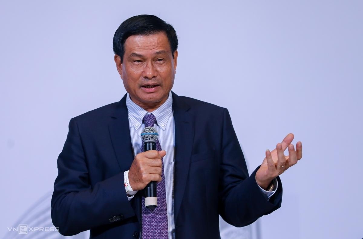 Ông Nguyễn Bá Dương tại phiên họp thường niên cuối tháng 6/2020. Ảnh: Quỳnh Trần.
