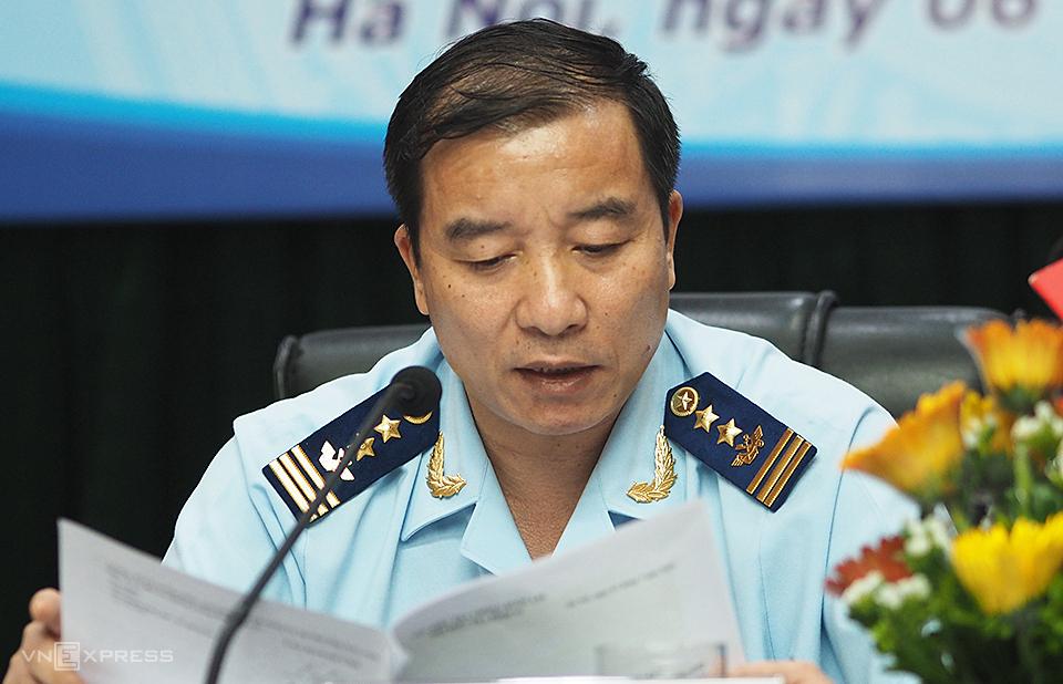 Cục trưởng Điều tra chống buôn lậu, Nguyễn Hùng Anh thông tin tại cuộc họp báo chiều 6/7. Ảnh: Anh Tú