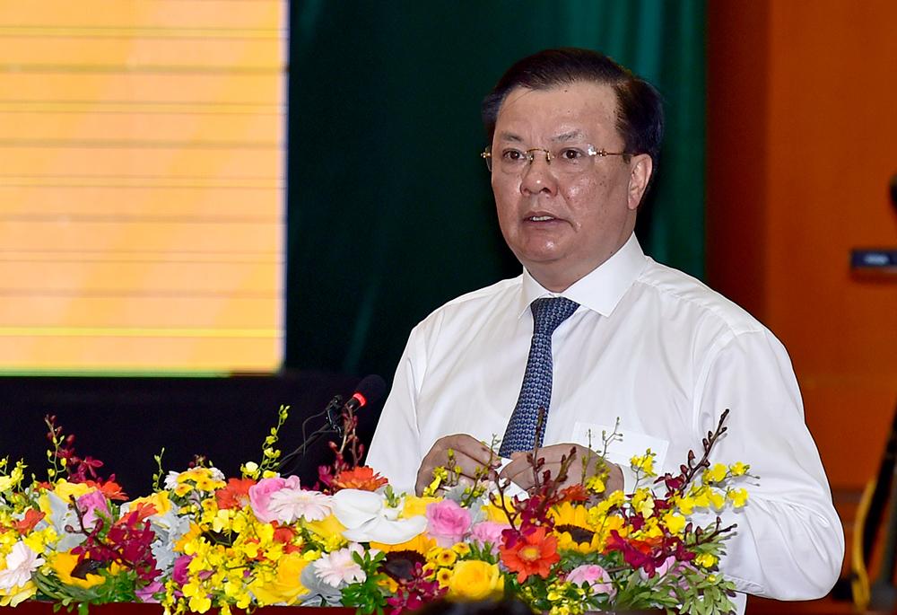 Bộ trưởng Tài chính Đinh Tiến Dũng tại sự kiện sáng nay (7/7). Ảnh: Bộ Tài chính.