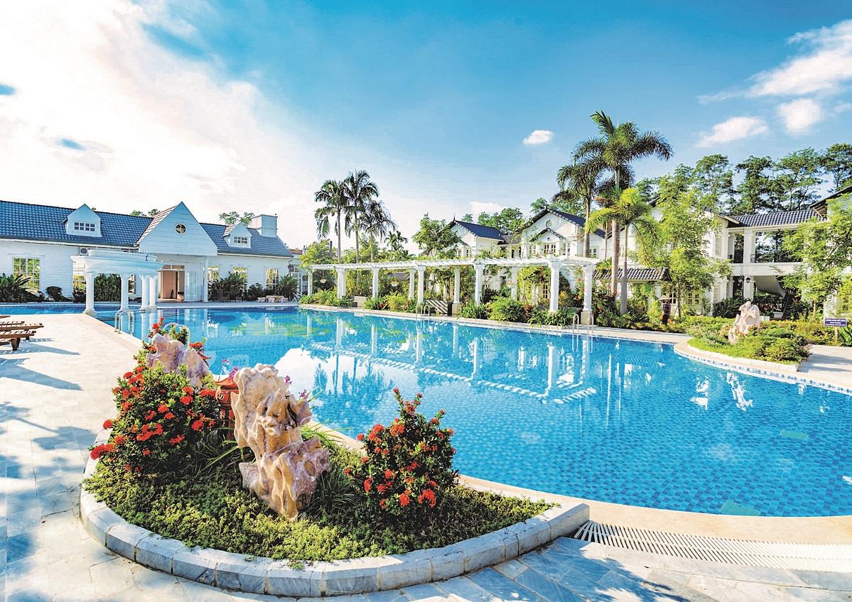 Không gian tiện ích tại Vườn Vua Resort & Villas.
