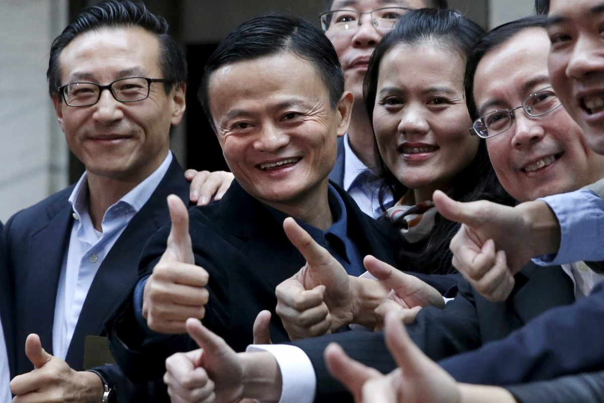 Các lãnh đạo Alibaba trong đợt IPO năm 2014 tại Mỹ. Ảnh: Reuters