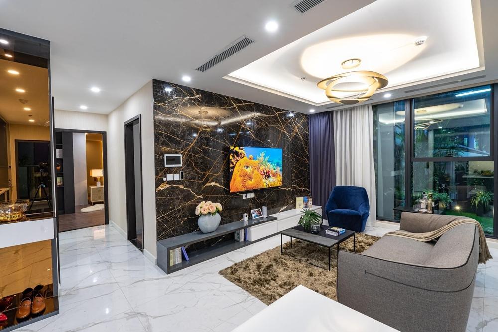 Hình thực tế căn 3 phòng ngủ tại nhà mẫu dự án Sunshine City Sài Gòn.