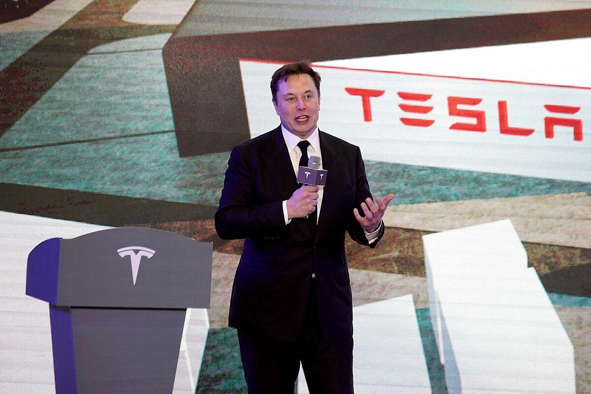 CEO Tesla Elon Musk trong một sự kiện của công ty. Ảnh:Reuters