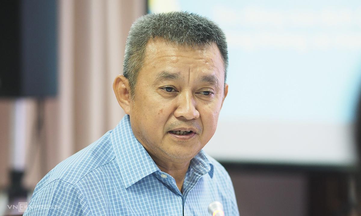 CEO Vietnam Airlines Dương Trí Thành nói tại toạ đàm chiều 13/7. Ảnh: Anh Tú