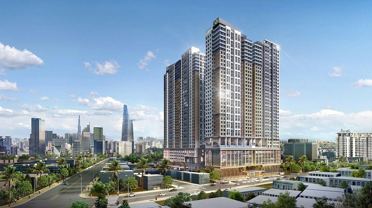 Phối cảnh The Grand Manhattan tại số 100 Cô Bắc, phường Cô Giang, quận 1, TP HCM.
