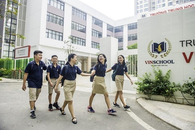 Các học sinh tại hệ thống giáo dục Vinschool.