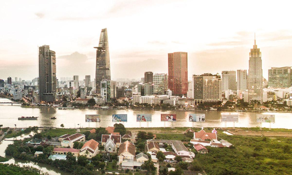 Thị trường văn phòng khu trung tâm được mệnh danh là đất vàng TP HCM. Ảnh: Lucas Nguyễn