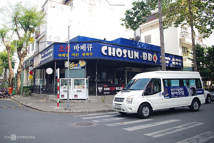 Một góc phố Hàn Quốc tại quận 7, TP HCM. Ảnh: Tâm Linh