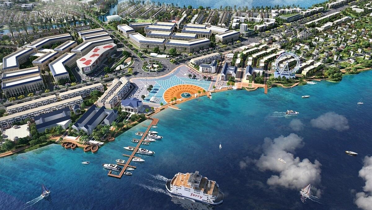 Aqua City dành 70% diện tích cho mảng xanh, hạ tầng giao thông và tiện ích nội khu đẳng cấp.