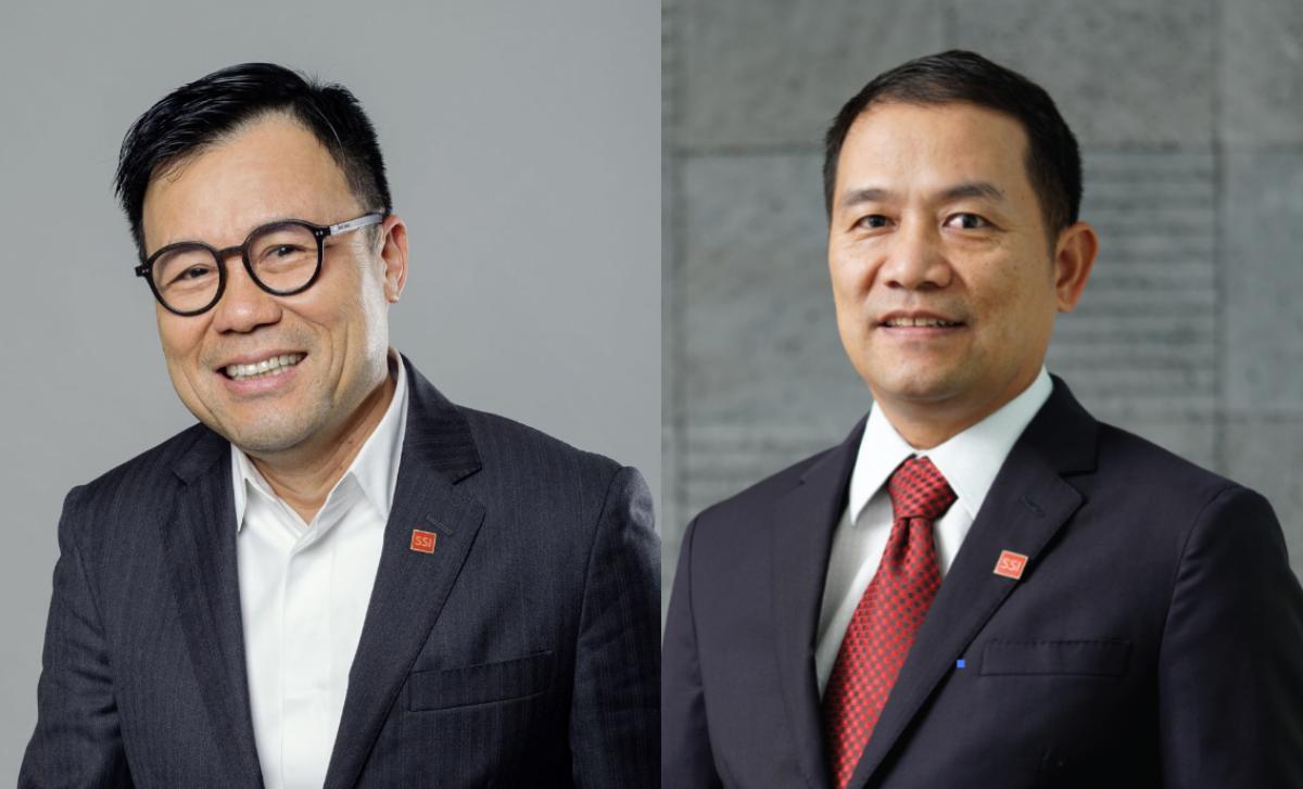 Ông Nguyễn Duy Hưng (trái) và ông Nguyễn Hồng Nam. Ảnh: SSI.