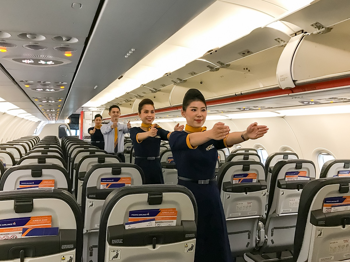 Đồng phục mới của Pacific Airlines. Ảnh: Pacific Airlines.