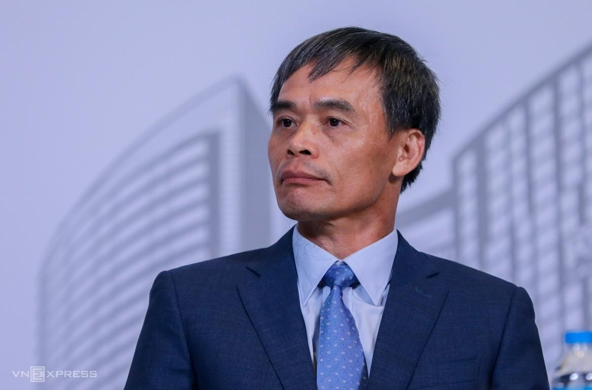 Ông Nguyễn Sỹ Công tại phiên họp thường niên cuối tháng 6/2020. Ảnh: Quỳnh Trần.