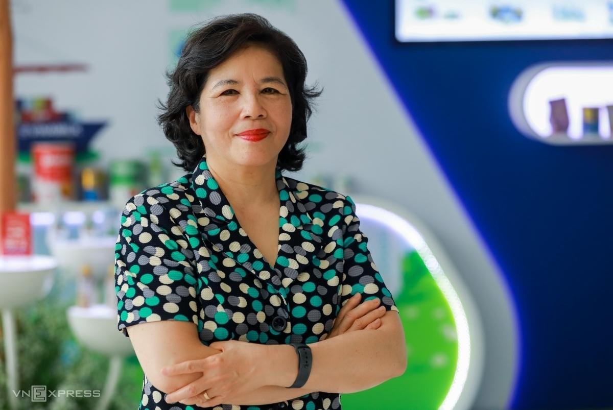 Bà Mai Kiều Liên – Tổng giám đốc Vinamilk. Ảnh: Quỳnh Trần.