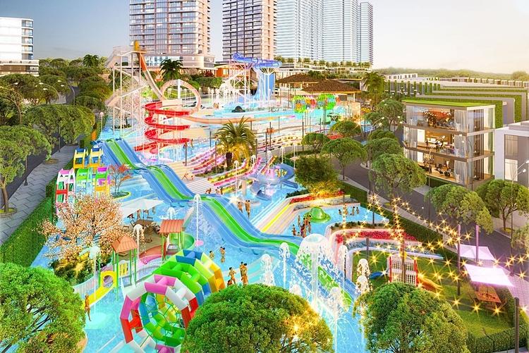 Mũi Né Summerland sở hữu tổ hợp công viên nước đầu tiên tại Phan Thiết, quy mô 20.000m2.