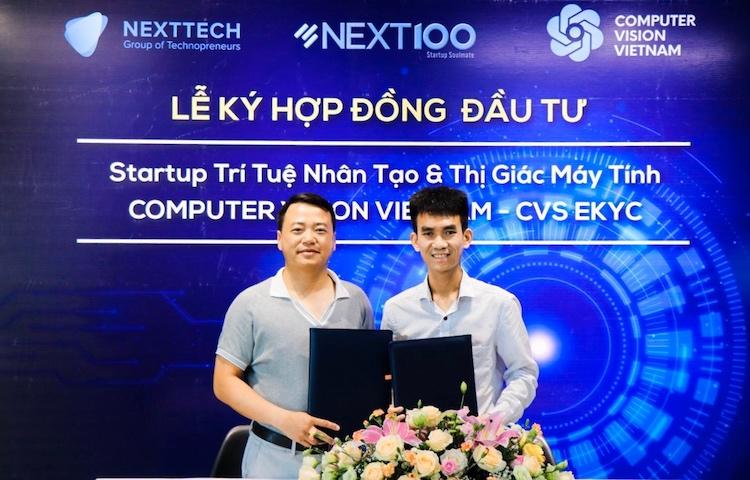 Ông Nguyễn Hoà Bình – Chủ tịch Tập đoàn NextTech- Sáng lập Quỹ  Next100 và ông Nguyễn Văn Việt - CEO & Co-Founder Computer Vision