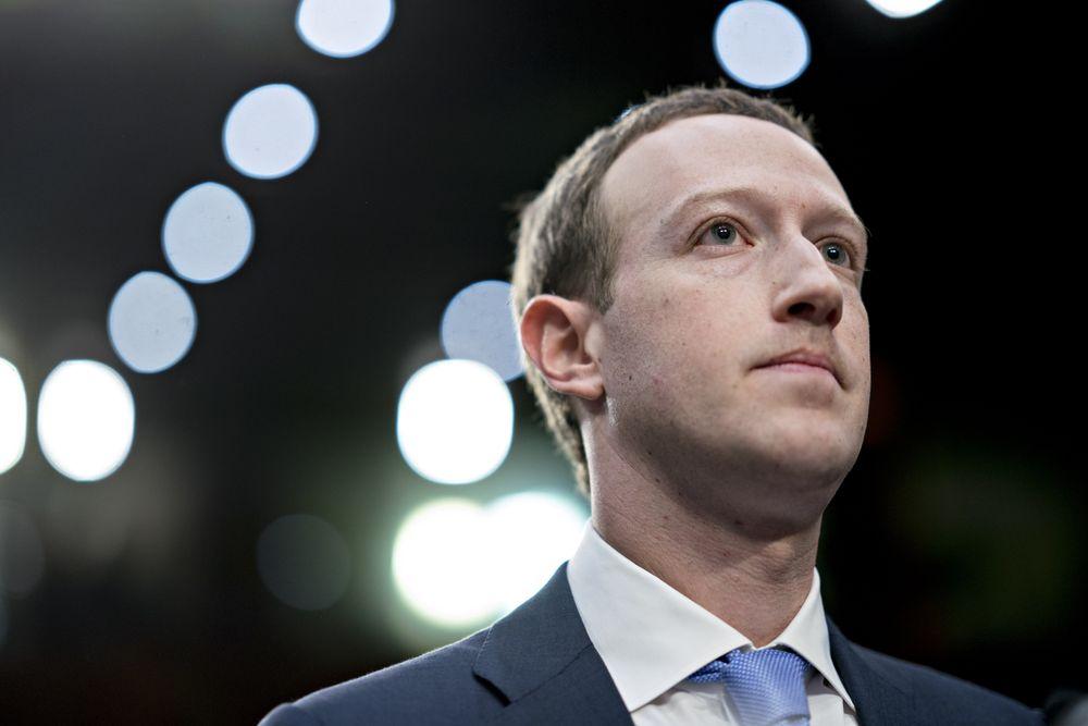 Ông chủ Facebook Mark Zuckerberg. Ảnh: Bloomberg