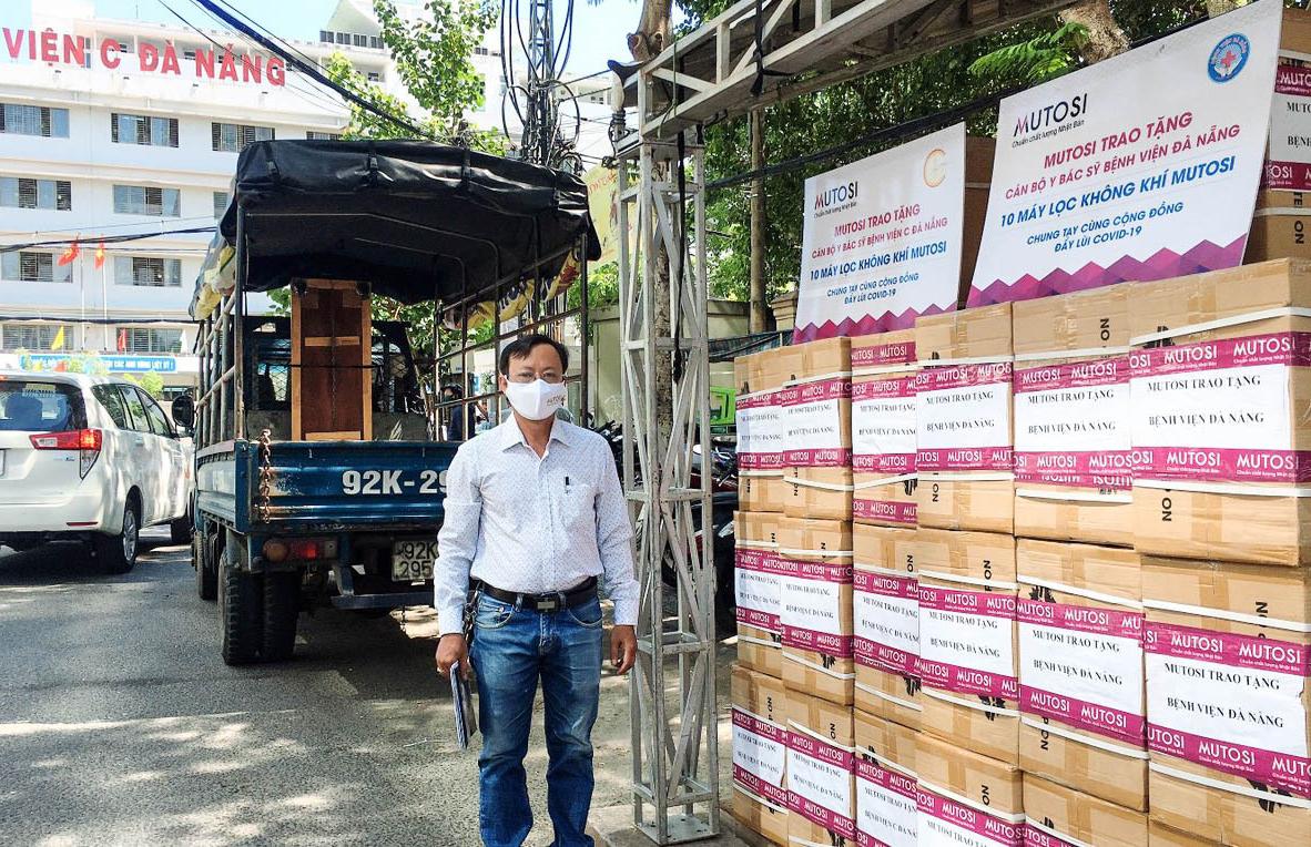 Mutosi trao tặng máy lọc không khí cho bệnh viện tại Đà Nẵng