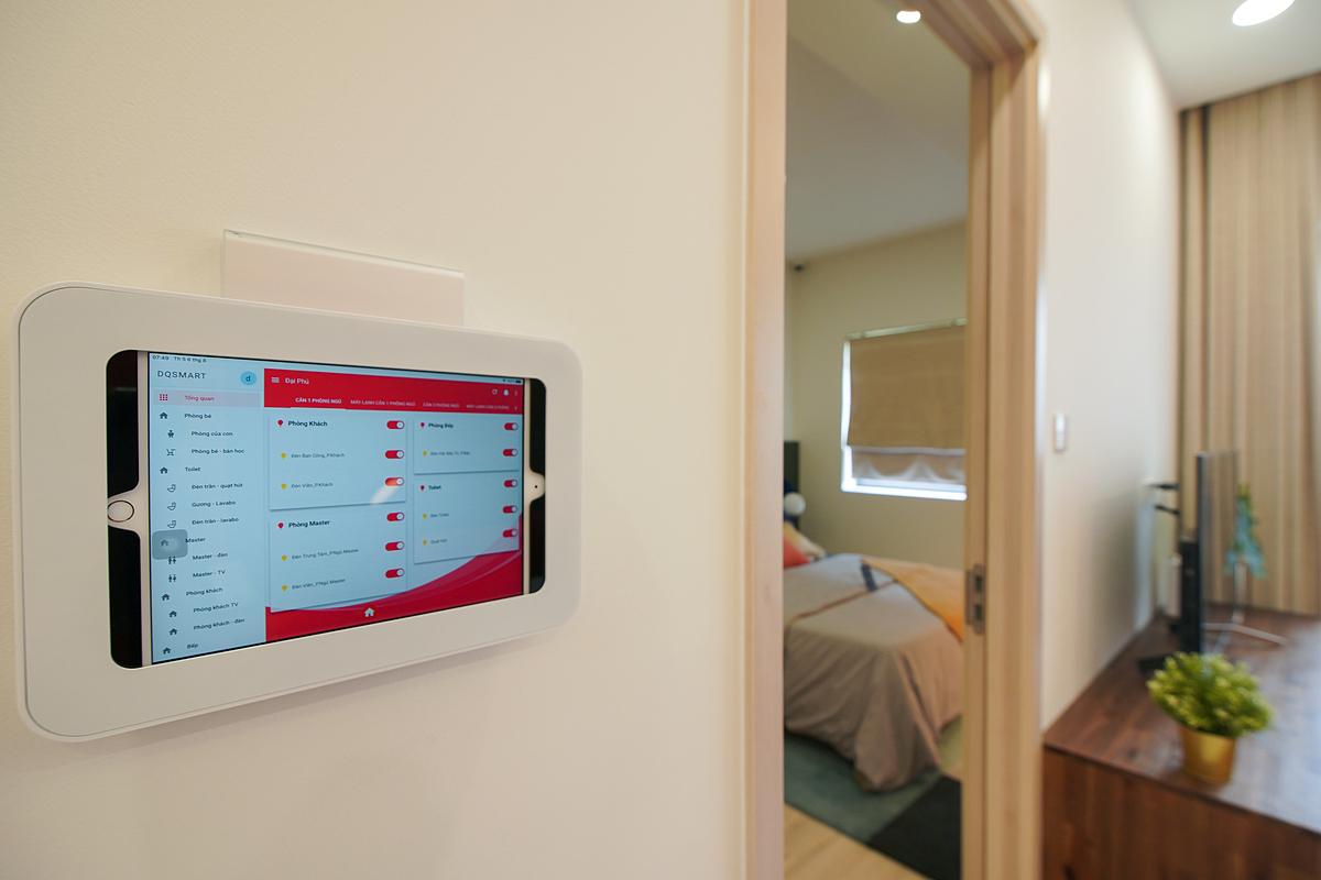 Công nghệ nhà thông minh tích hợp trong các căn hộ tại New Galaxy.