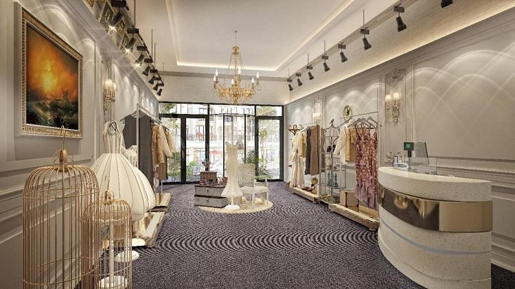 Phối cảnh một shophouse thời trang tại tiểu khu The Gallery.