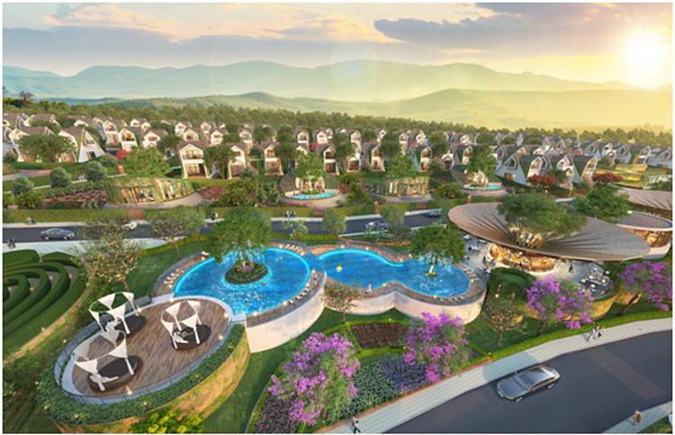 Phối cảnh dự án cộng đồng sinh thái nghỉ dưỡng - du lịch La Beauté tại TP Bảo Lộc.