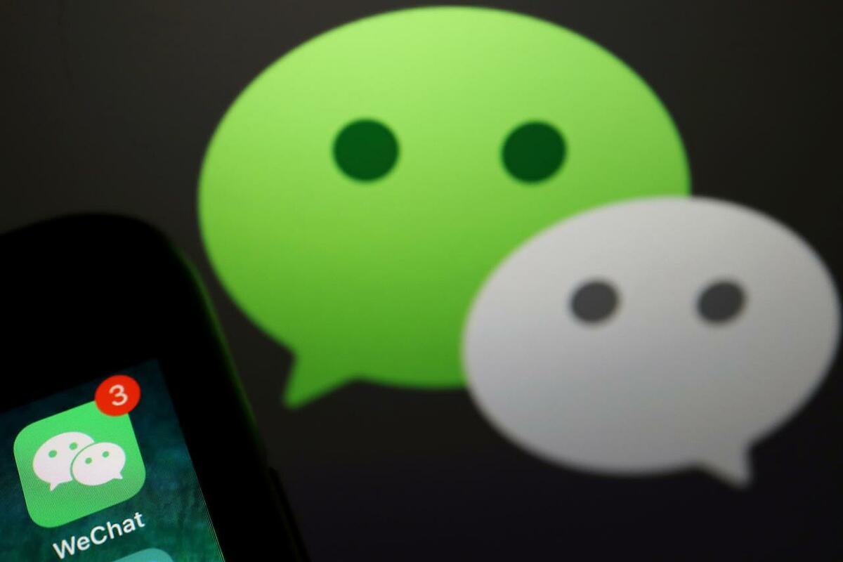 Ứng dụng WeChat của Tencent đang là mục tiêu của giới chức Mỹ. Ảnh: Reuters