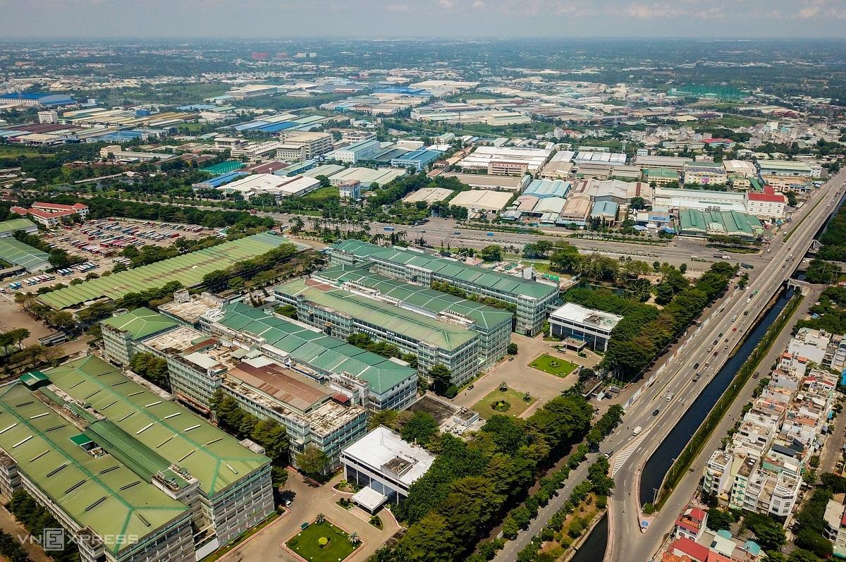 Khu công nghiệp Tân Tạo (quận Bình Tân) tháng 7/2020, có diện tích gần 200 ha, xây dựng từ năm 1996. Ảnh: Quỳnh Trần.