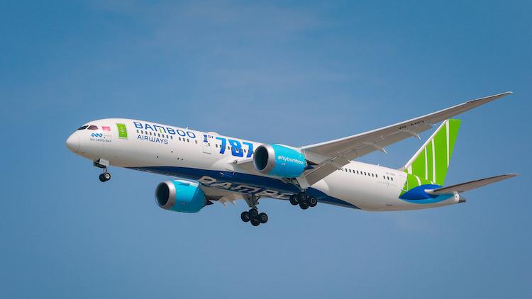 Máy bay Boeing 787-9 Dreamliner của Bamboo Airways.