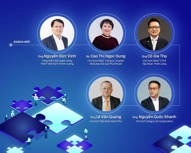 Khách mời tham gia diễn đàn là lãnh đạo các doanh nghiệp tư nhân hàng đầu Việt Nam.