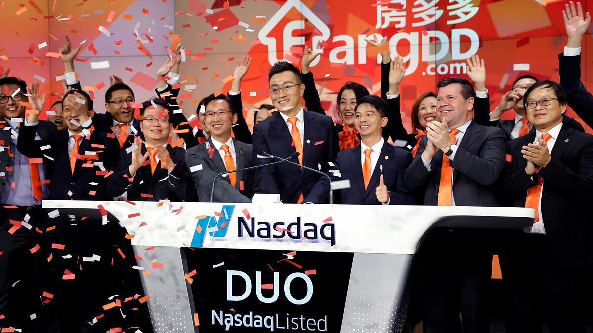 Nhiều công ty Trung Quốc đã niêm yết trên sàn Nasdaq. Ảnh: Reuters