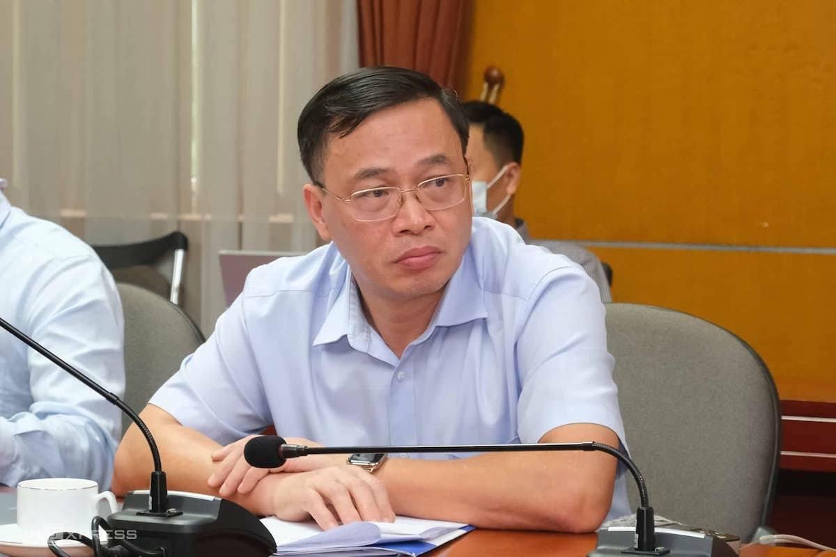 Ông Nguyễn Anh Tuấn - Cục trưởng Cục Điều tiết điện lực tại cuộc họp chiều 18/8. Ảnh: Anh Minh.