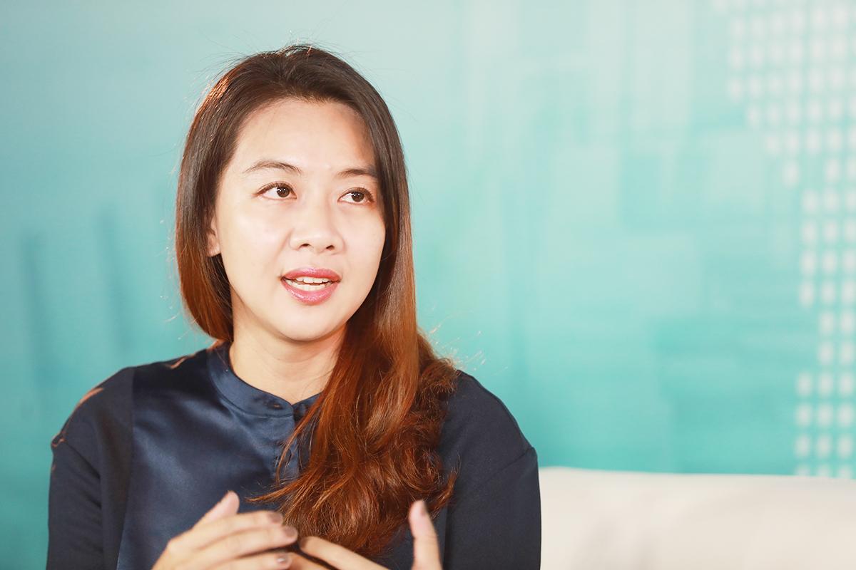 Bà Dương Thị Bích Trâm - CEO của MK Creative Group (MKCG). Ảnh: Hữu Khoa.
