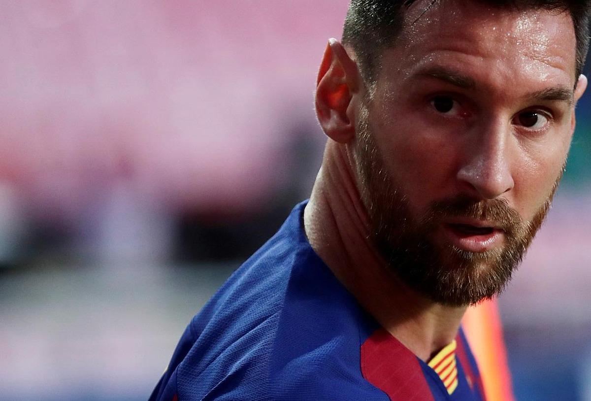 Messi trong trận đấu với Bayern Munich hôm 14/8. Ảnh: Reuters
