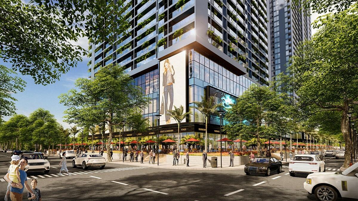 Tuyến phố thương mại tại Sunshine Horizon hứa hẹn là điểm đến mới của quận 4. Ảnh phối cảnh: Sunshine Group.