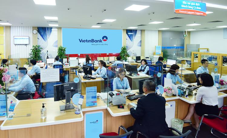 Một phòng giao dịch của VietinBank.