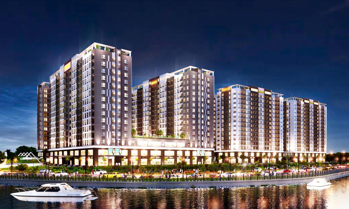 Phối cảnh dự án nhà ở xã hội Golden City (Tây Ninh) vừa được Công ty Hoàng Quân chuyển nhượng cho Công ty Thành Phố Vàng.