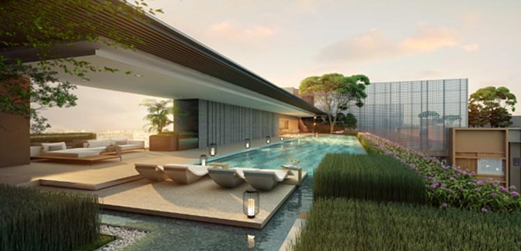 Ecoplan Asia mang đến cho The Marq cảm giác về một ốc đảo nghỉ dưỡng ngay giữa lòng phố thị.