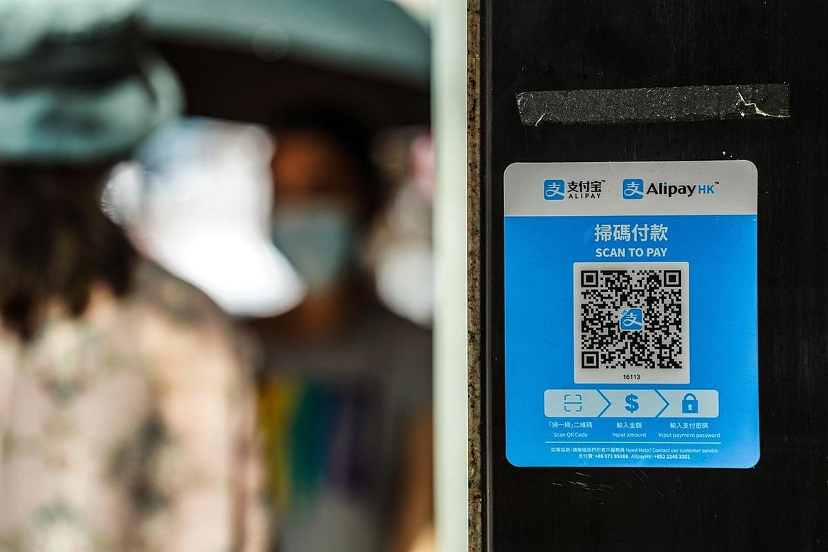 Một mã QR dùng để quét và thanh toán bằng ứng dụng Alipay. Ảnh: Bloomberg