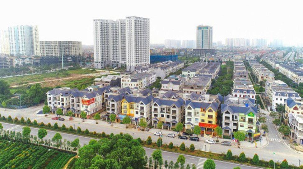 Khu đô thị Dương Nội nhìn từ trên cao.