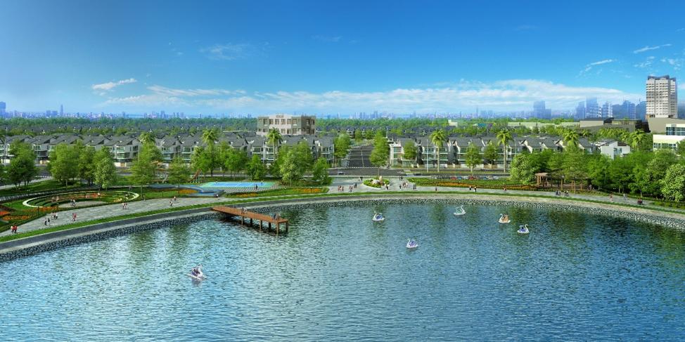 Dự án An Vượng Villa soi bóng bên Công viên Thiên Văn học.