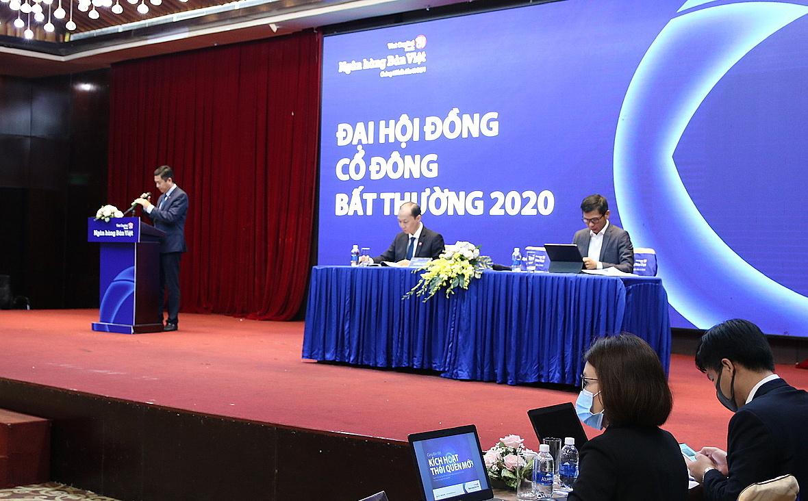 Ngân hàng Bản Việt tổ chức đại hội đồng cổ đông bất thường 2020 bầu bổ sung thành viên hội đồng quản trị và ban kiểm soát nhiệm kỳ mới. Ảnh: Bản Việt.