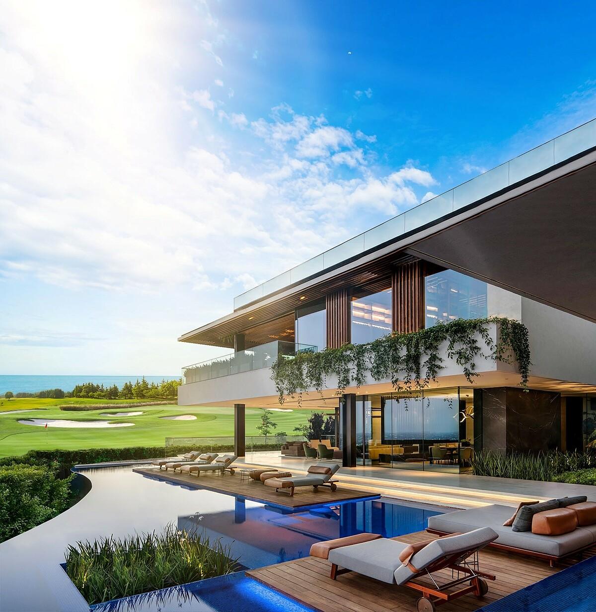 Phối cảnh biệt thự PGA Golf Villas tại NovaWorld Phan Thiet. Ảnh: Novaland.