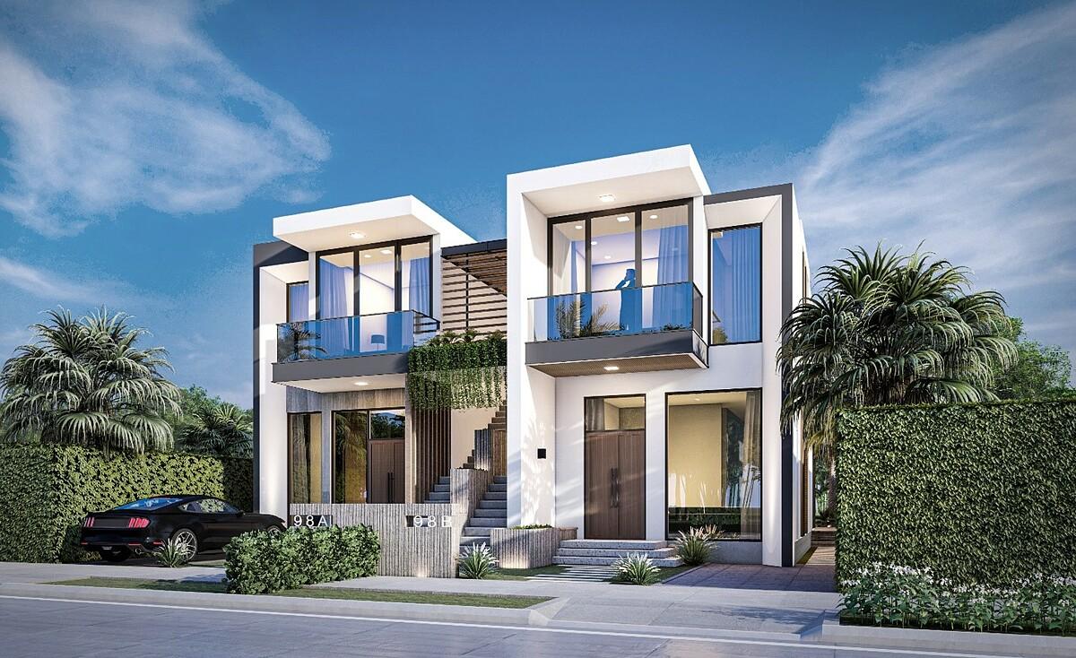Mẫu biệt thự diện tích 7,5x20 m với kiến trúc hiện đại, tận dụng ánh sáng tự nhiên kết hợp hài hòa với nội thất sang trọng. Xem thêm thông tin về biệt thự PGA Golf Villas tại đây hoặc gọi hotline 0928221226. Ảnh phối cảnh: Novaland.