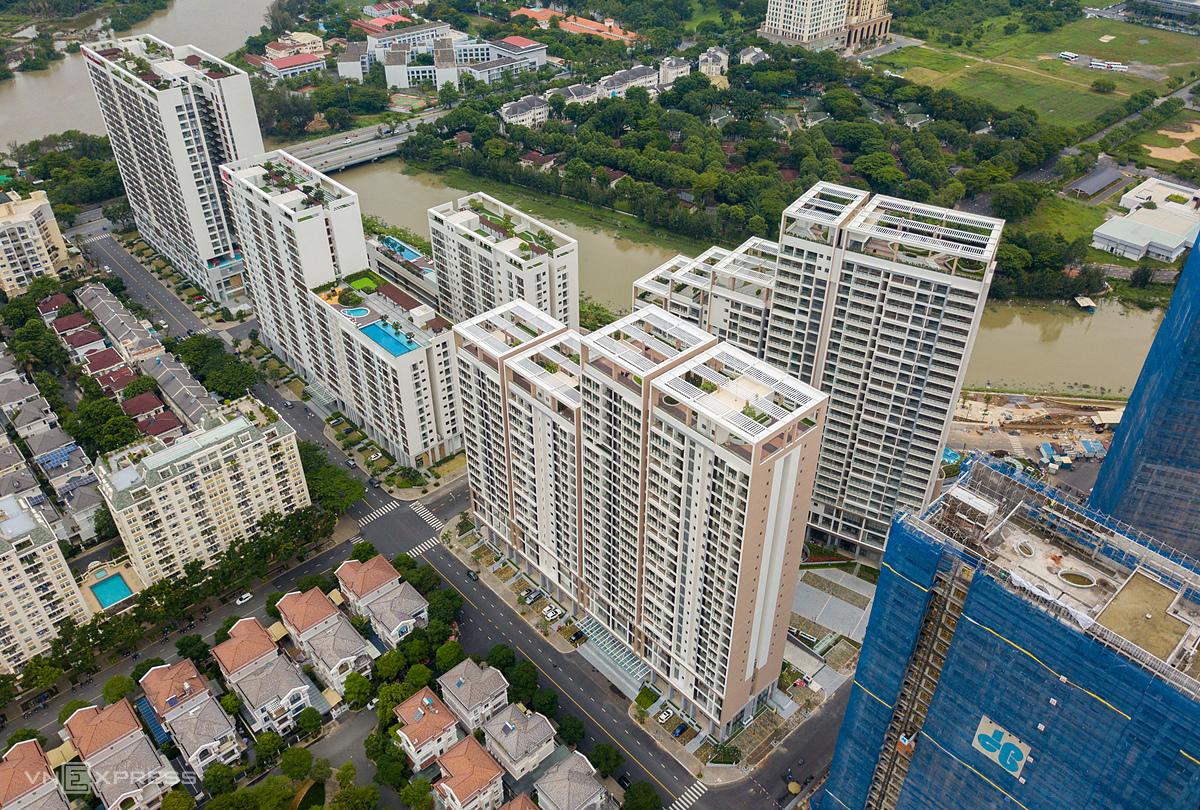 Bất động sản phía Nam TP HCM tại khu vực Phú Mỹ Hưng, quận 7. Ảnh: Quỳnh Trần.