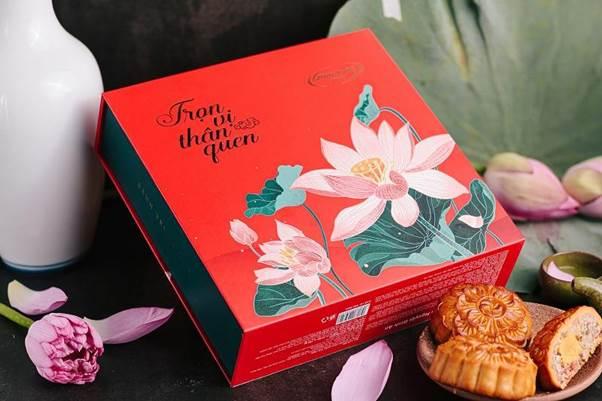 Thiết kế hộp Bánh Trung thu Thanh Nguyệt chủ đề Sen của Hữu Nghị.