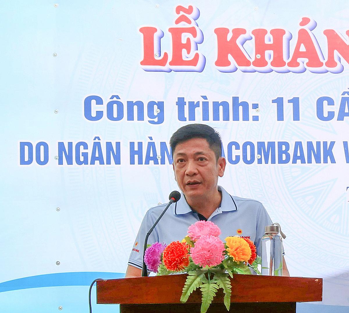 Ông Lê Huy Dũng - Quyền tổng giám đốc Vietbank phát biểu tại buổi lễ. Ảnh: Vietbank.