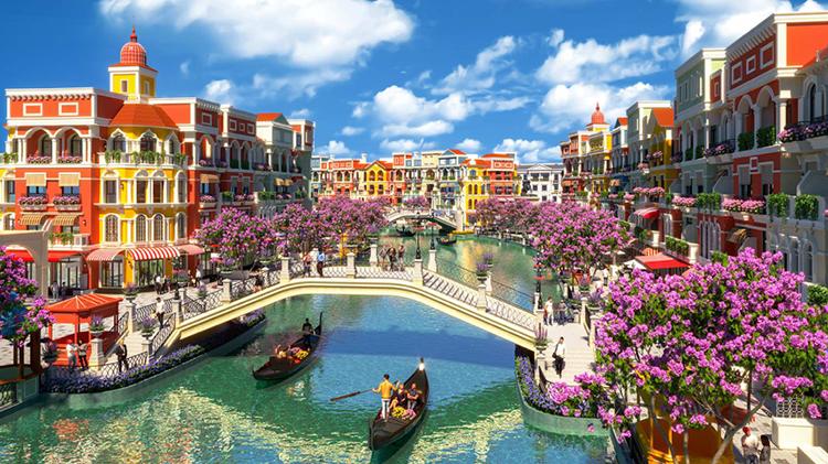 Không gian tái hiện Kênh đào Venice lãng mạn là một trong những tiện ích nổi bật tại Grand World.