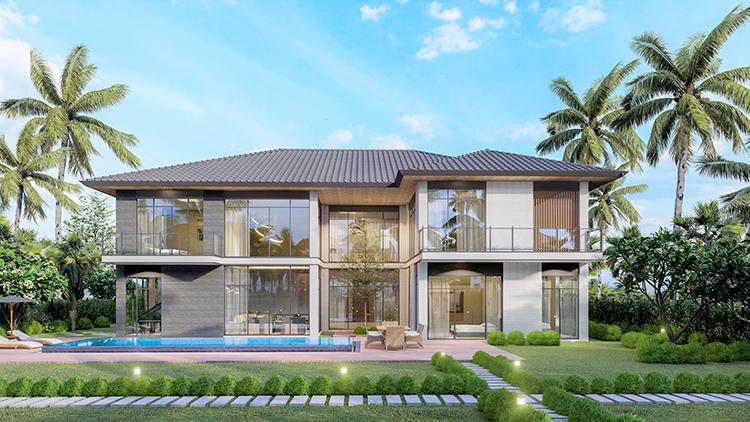 Một trong những mẫu Riverfront Grand Villa được thiết kế bởi TwoG Architecture.