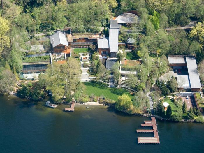 Dinh thự bên sông của tỷ phú Bill Gates. Ảnh: Business Insider.