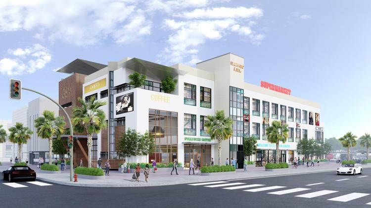 Phối cảnh trung tâm thương mại tại B-New Center.